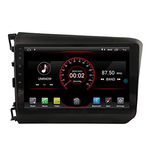 Autosion Android 10 Cortex A9 1.6 G Lecteur DVD de Voiture GPS Radio Head Unit Navi stéréo multimédia WiFi pour Honda Civic 2012 Support Commande au Volant