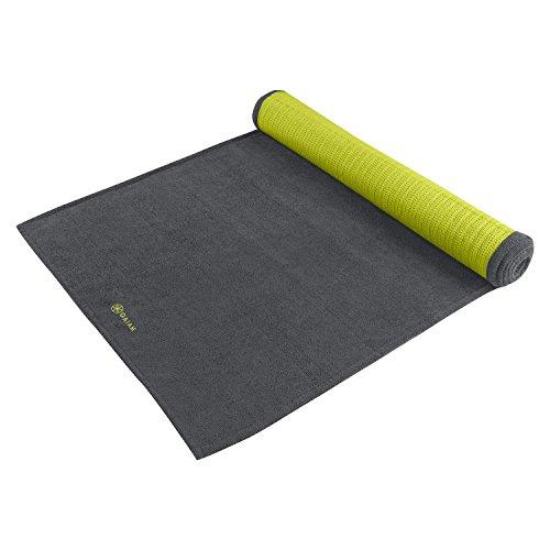 gaiam 61345, Asciugamano per Il Tappetino Yoga Unisex – Adulto, Grigio, Taglia Unica