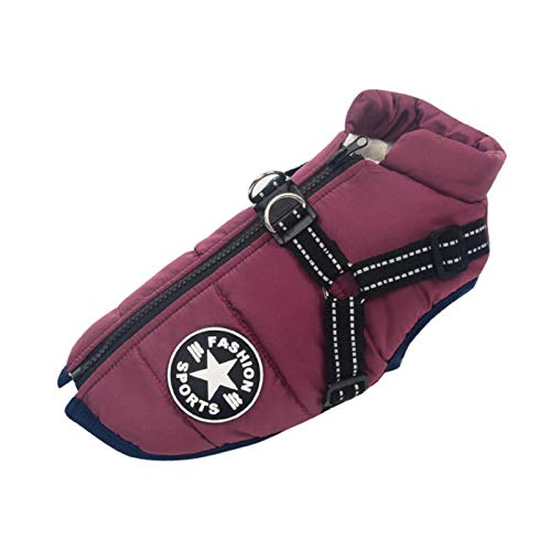 Dog Harness Large Pet Dog Jacket with Harness Winter Warm Dog Clothes for Labrador Waterproof Big Dog Coat Chihuahua French Bulldog Outfits