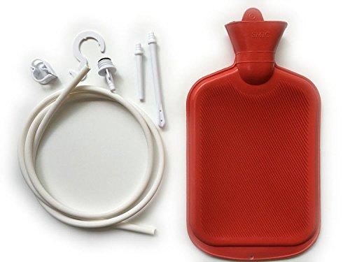 Ocamo - Kit de sistema de enema para mujer y hombre con tubo de goma para botella de agua caliente