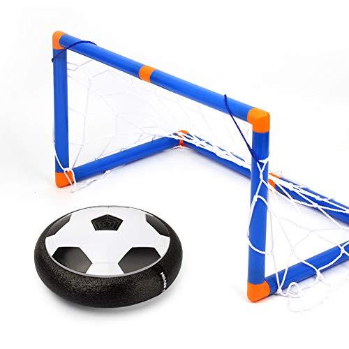 puran Objectifs De Football pour Les Enfants, Jeu De Ballon De Football à LED électrique Hover, Jeu De Sport en Plein Air pour Enfants Noir + Blanc