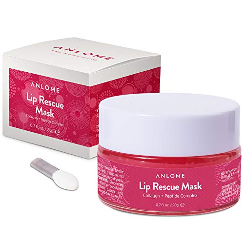 ANLOME Collagen Lip Sleep Mask, Lip Rescue Peptide Complex - Supplies Your Lips with Moisture, Nutrition, Softening, Fades Fine Lines