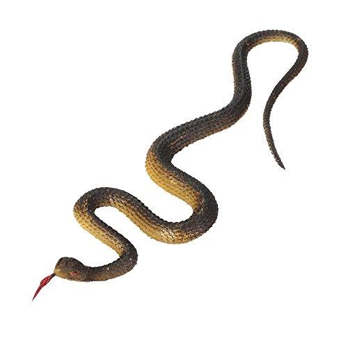 Goolsky Simulación Serpiente de goma negra Serpiente de jardín falsa Tricky Juguete divertido