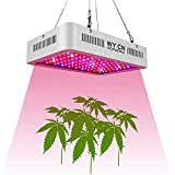 LED Grow Light 1000W, WY CN Upgraded Full Spectrum Dual chip Plant Grow Light with Daisy Chain Design for Hydroponic Indoor Plants, Seeding, Flowering Fruiting Grow lamp( 10W LEDs 100Pcs)