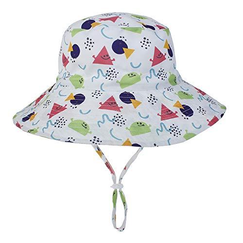 YAOXI Verano De Las Muchachas De Flor De Algodón Sombrero De Sol Grandes Sombreros De ala Ancha Playa para Niños del Sombrero del Capo De Sun,E,M