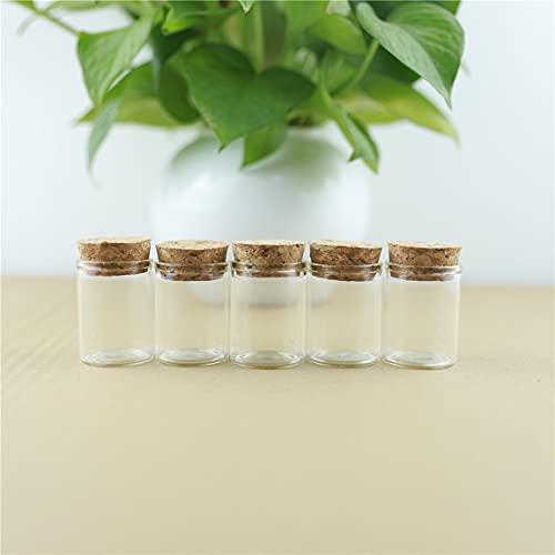 NLLeZ 24pcs 30 * 40mm 15 ml Botella de Vidrio con tapón de Tubo de Prueba de Corcho Tope de Spice Botellas contenedor tarros frascos Viales Bricolaje Artesanía