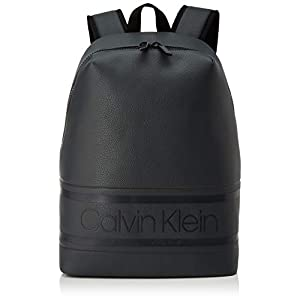 41pcoL8 ofL. SS300  - Calvin Klein Striped Logo Pu Round Backpack - Mochilas Hombre