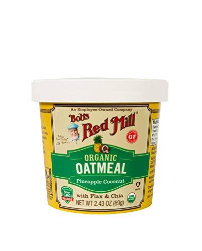 Bob's Red Mill Organic Gluten Free Oatmeal Cup, Pineapple Coconut, 2.43 Oz, 2.4300000000000002 Oz