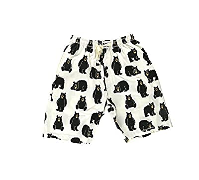 Lazy One Pajama Shorts for Men, Men's Separate Bottoms, Cotton Loungewear, Animal (Papa Bear, Small) by