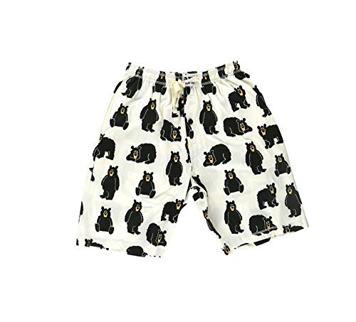 Lazy One Pajama Shorts for Men, Men's Separate Bottoms, Cotton Loungewear, Animal (Papa Bear, Medium)