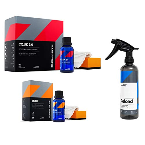 CarPro Cquartz UK 3.0 and DLUX 30ml Ceramic Coating Combo with 500ml Reload - The Clean Garage