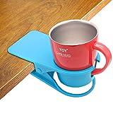 Soporte para taza de bebida, diseño de clip para mesa de cristal de agua, botella de cerveza, bebidas, té, café, taza, platillo, diseño de clip para oficina en casa, de Hollihi