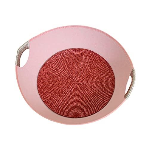 HMmao Alfombrilla para rascar para gatos, rascador de gato, juguetes para gatos con diseño reversible de texturas de arañazos de alta calidad (rosa)