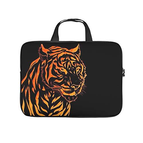 Golden Tiger Animal Laptop Bag Shockproof Laptop Protective Bag Pattern Notebook Bag for University Work Business