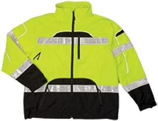 ML Kishigo RWJ106 Brilliant Series High-Viz Rainwear Jacket, Fits Large and Extra Large, Lime