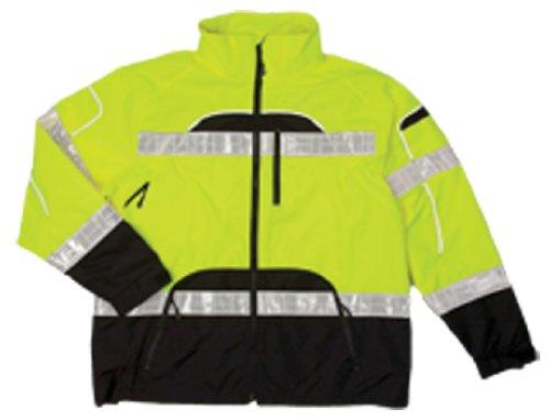 Rain Jacket, Reflctv Piping, Lime, S-M