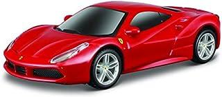 ブラーゴ 1/43 フェラーリ Bburago 1/43 Ferrari 488 GTB レース スポーツカー ダイキャストカー Diecast Model ミニカー (レッド) [並行輸入品]