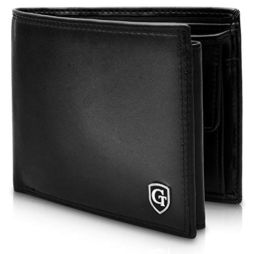 GenTo Manhattan Große Geldbörse mit Münzfach - TÜV geprüfter RFID, NFC Schutz - geräumiges Portemonnaie - Geldbeutel für Herren und Damen - Portmonaise inkl. Geschenkbox