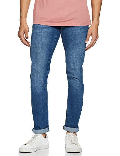 Wrangler Men's Skinny Fit Jeans (W38491W22SMU_JSW-Indigo_34W x 33L)