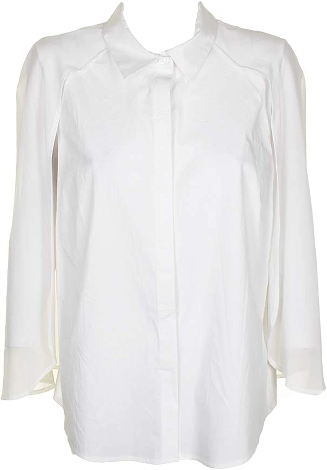 DKNY Womens Wear to Work Day to Night ButtonDown Top White XL