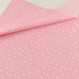Teramila Cotton Fabric 5 pcs 40cm*50cm Pink for Sewing Fat Quarter Quilting Patchwork Tissue Tilda Doll Cloth Kids Bedding...