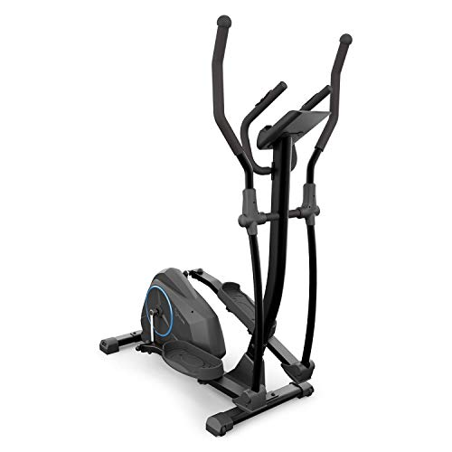Capital Sports Epsylon Cross AS Crosstrainer, Riemenantrieb mit SilentBelt System, 12 kg Schwungmasse, 24 Widerstands-Stufen, Pulsmesser, Tablet-Halterung, TÜV-geprüft, Stahlrahmen, pianoschwarz