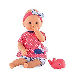 """powerful Corolle Mon Premier Bebe Bad Oceane 12 """"A safe doll in the bath or pool is floating in the water"""