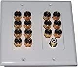 7 Speaker 14 Post Speaker Wall Plate for Plus Sub woofer Jack Dolby 7.1 Color Coded for Home Theater System Dolby Audio Dolby Sound. Our in Wall Speaker Wall Plates Provide an Easy Professional Look