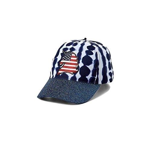 American Flag Unicorn Tie Dye Baseball Cap mit Glitzerkrempe