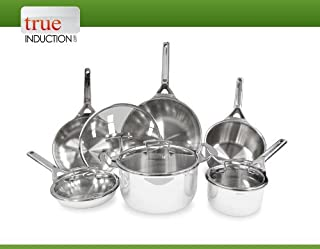 True Induction 10-Piece Tri-ply Stainless Steel Induction Cookware Set