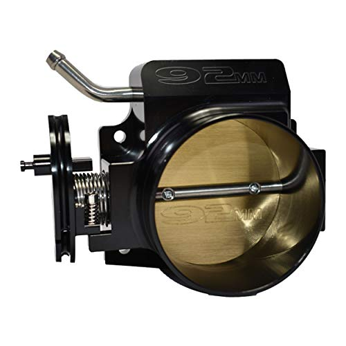 A-Team Performance 92 MM 4 BOLT Throttle Body Compatible with LS LS1 LS3 LS6 LSX Engine BLACK
