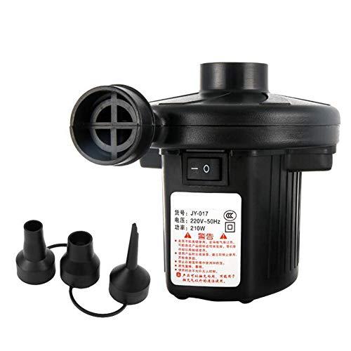 FDY Bombas Eléctricas AC 220-240V Llenado Rápido Inflador Deflactor para Colchones Inflables Colchones Inflables Piscina Infantil Juguetes Playa con 3 Boquillas