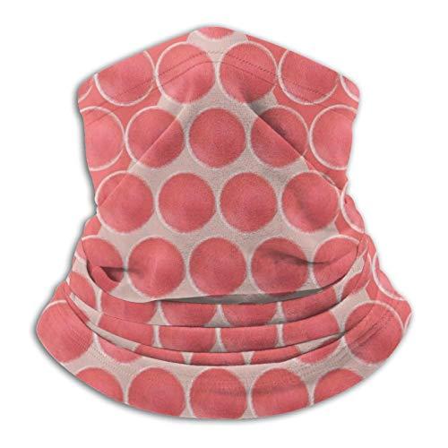 Patrón de árbol de bolas artísticas de Navidad en rosa rojo cuello polaina bandana envoltura de cabeza, bufanda calentador de cuello, pasamontañas para motocicleta, ciclismo, montar a caballo y correr