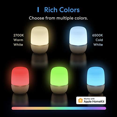 meross - Lampada da Comodino a LED Smart WiFI Compatibile con HomeKit Alexa e Google