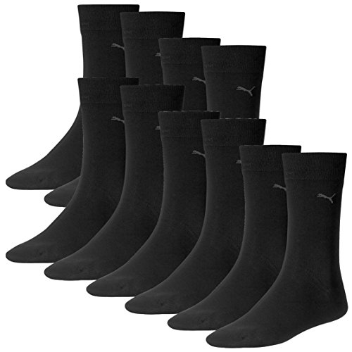 PUMA Herren Classic Casual Business Socken 10er Pack (Black, 47-49)