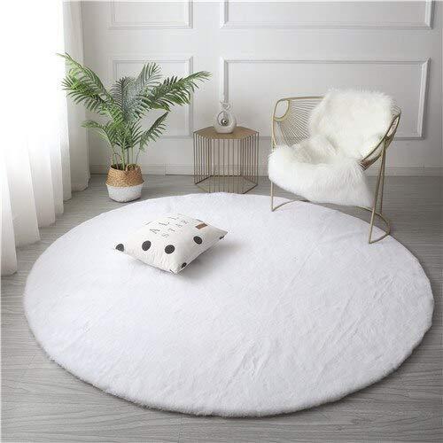 JINGMIAO Tappeto in pelliccia sintetica super morbida per la cameretta dei bambini, tappeto shaggy, antiscivolo, lavabile, per il soggiorno