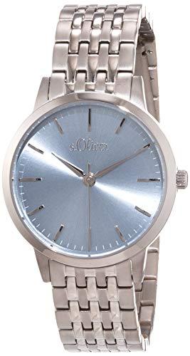 s.Oliver Damen Analog Quarz Uhr mit Titan Armband SO-4217-MQT