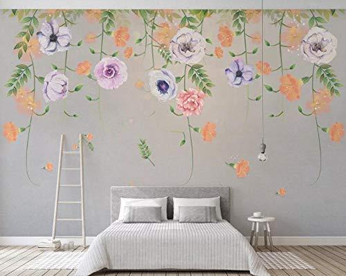 Papel Pintado Flor Vines Wallpaper Decoración Para El Hogar Papel De Pared Mural Sala De Estar Dormitorio Decoración De La Pared-400Cmx_280Cm(W) X(H)