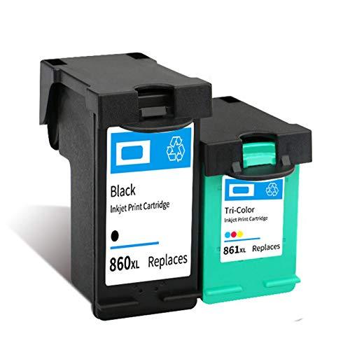 Cartucho de tinta 860XL 861XL, repuesto para impresoras HP Deskjet D4268 C4488 C4588 OfficeJet J5725 Cartuchos de tinta compatibles con negro y tricolor negro y color