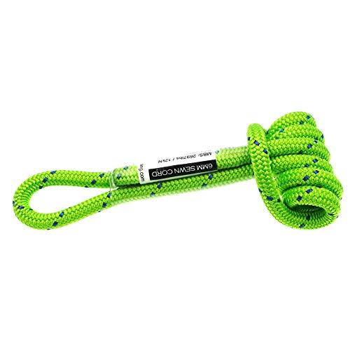 gdangel Klettern Cord 6mm Baum Kletterseil 12in Prusik Schleife Schnur Polyester Sicherheit Seil Rettung Rigging Abseilen Bergsteigen Ausrüstung