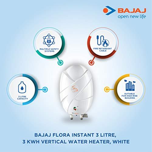 Bajaj Flora 3-Litre Instant Water Heater (white)
