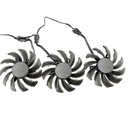 Creely Ventilador de refrigeración de 75 mm 0.35 A para Gigabyte AORUS GTX 1080 1070 Ti G1 o GTX 1070Ti G1 Gaming Video Card Cooler Fan(3 PCS)
