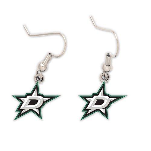 WinCraft NHL Dallas Stars Earrings Jewelry Card