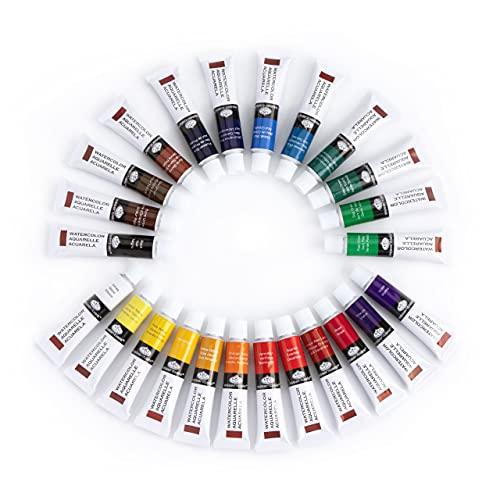 Royal & Langnickel WAT24 Watercolor Artist Tube Paint, 12ml, Pack of 24 colors