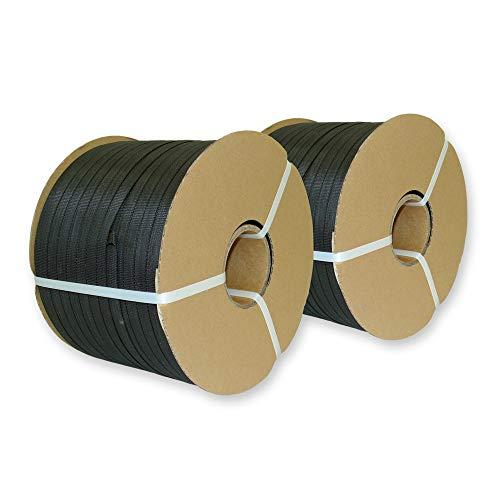 2 x 500 m PP Umreifungsband 12,7 x 0,6 mm, Kern 62 mm, reißfest bis 190 kg - Kunststoffband-Umreifung