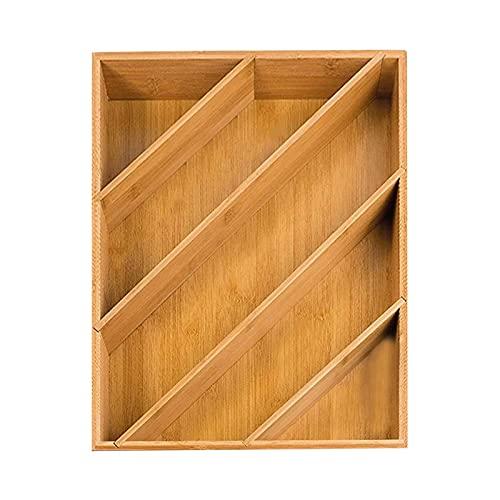 Ming Ming 5Grid MultiPunto Sala de Estar Garaje Cocina Bambú Bandeja Dormitorio Cubiertos Almacenamiento Vajilla Organizador Eco Friendly