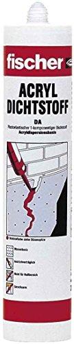 fischer Acryldichtstoff DA, geruchsarme Dichtmasse, elastoplastisches Maleracryl für Fugen im Innenbereich, Fugenmasse für Ausbesserungen und Risse im Mauerwerk, 310 ml, braun