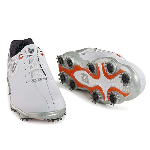 FootJoy Men's D.N.A. Helix-Previous Season Style Golf Shoes White 7 W Silver, US