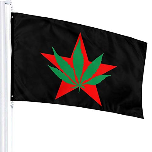 Moeeze Youth International Party Yippies-Flagge Outdoorflagge 90 x 150 cm dekorative Flagge, Nationalflagge, Gartenflagge, Zivilflagge, Landschaftsflagge
