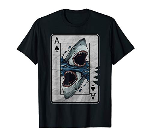 Poker Card Great White Shark T-Shirt